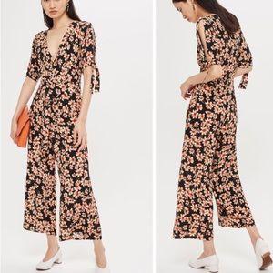Topshop Daisy Print Jumpsuit